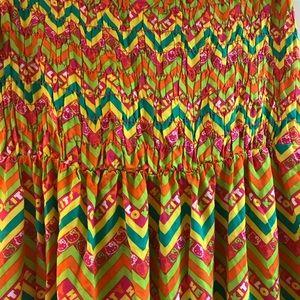 179a6e302 Hello Kitty Dresses - Hello Kitty High Low Tube Top Tropical Maxi Dress